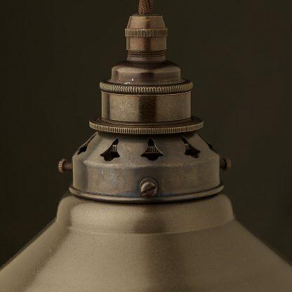 Steel Hat shaped E27 Pendant