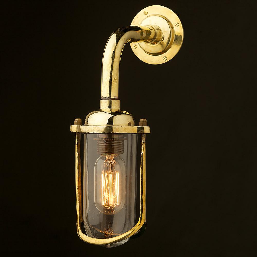 Wall Lights Long : Vintage Ships glass fish mouth long wall light