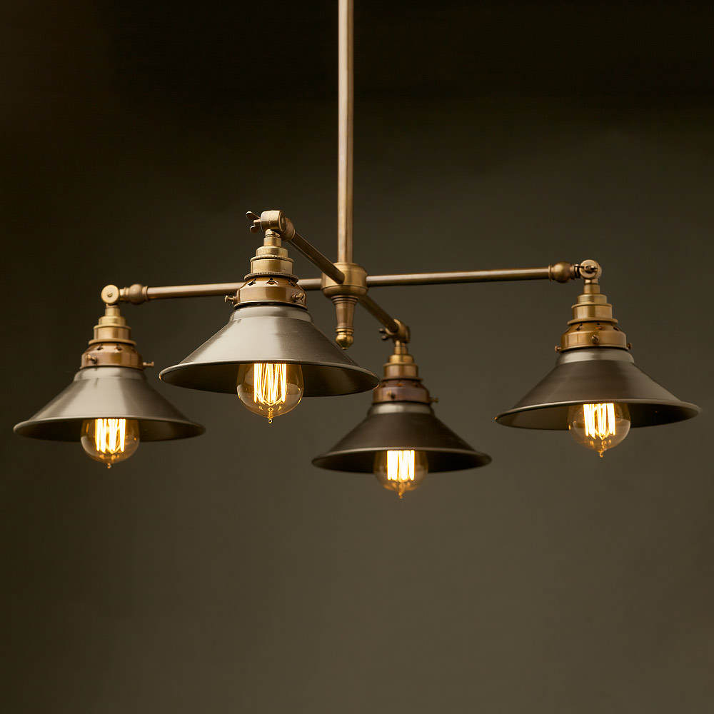 Brass four bulb e27 adjustable shade light mozeypictures Gallery