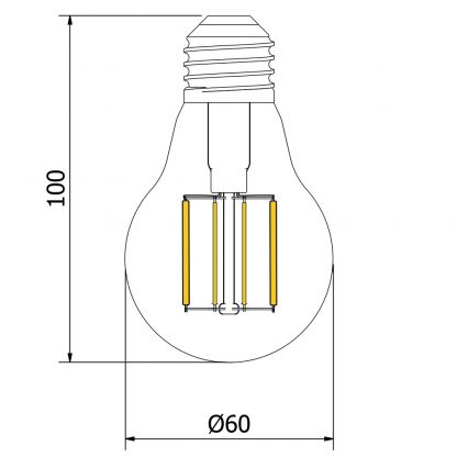 5 Watt Dimmable Lantern Filament LED E27 Clear GLS