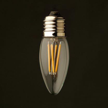 3 Watt Dimmable Filament LED E27 Candle Bulb