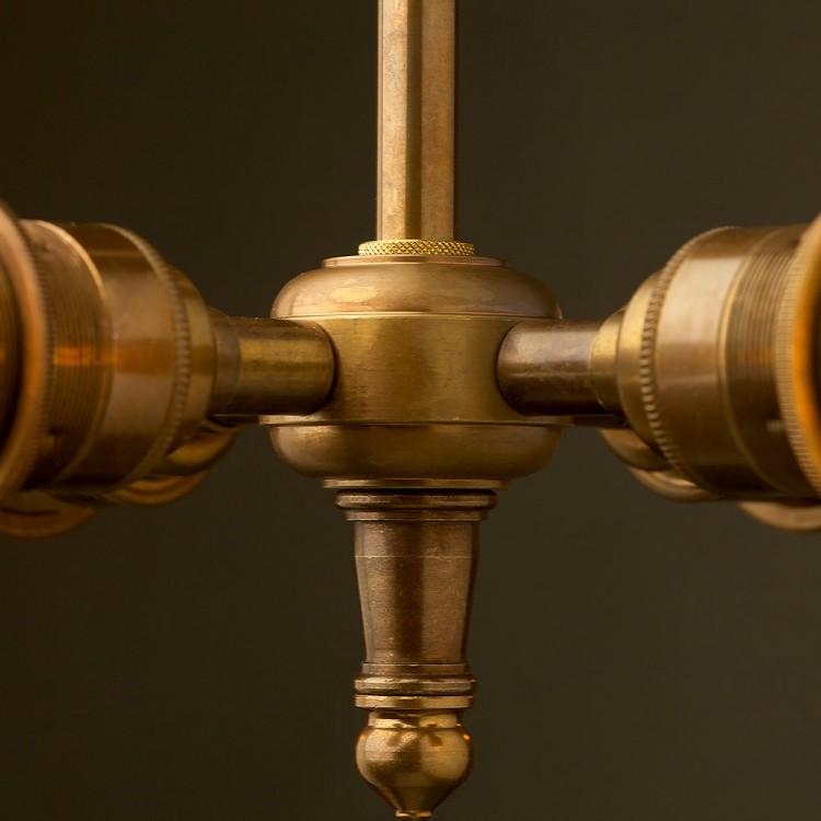 Brass Four Bulb E27 Light