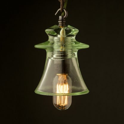 Russian Fluted Insulator E27 pendant