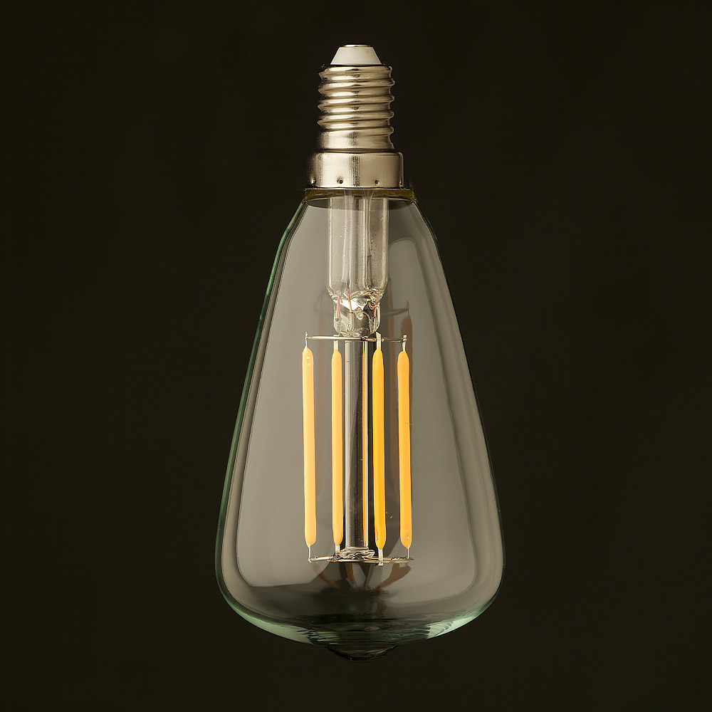 Watt small edison teardrop lantern filament led e14 off