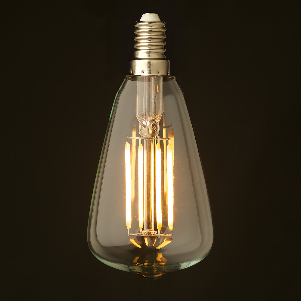 Dimmable vintage led light globes 3 watt small edison teardrop lantern filament led e14 parisarafo Images