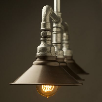 Galvanised Plumbing Pipe Table Light