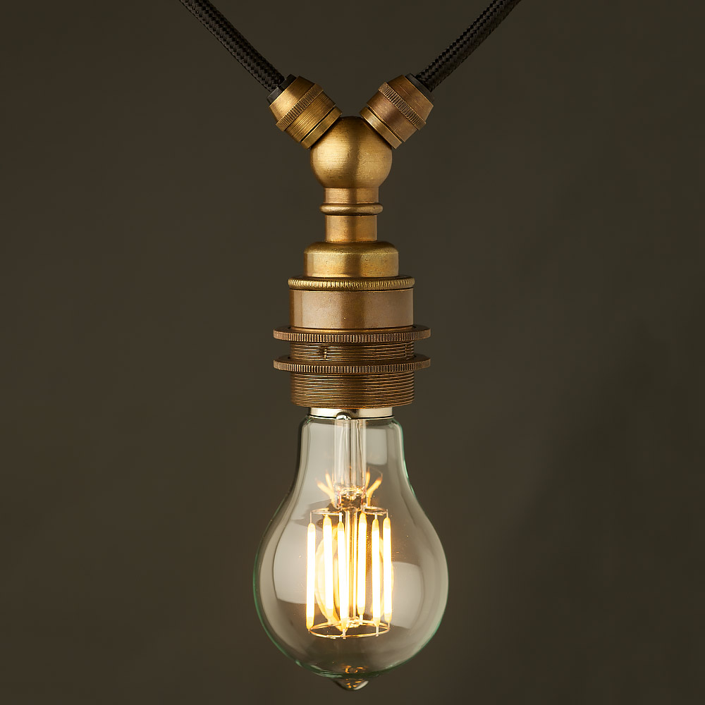 Antiqued Brass E Festoon Lampholder Gls Led on Festoon Led Bulb