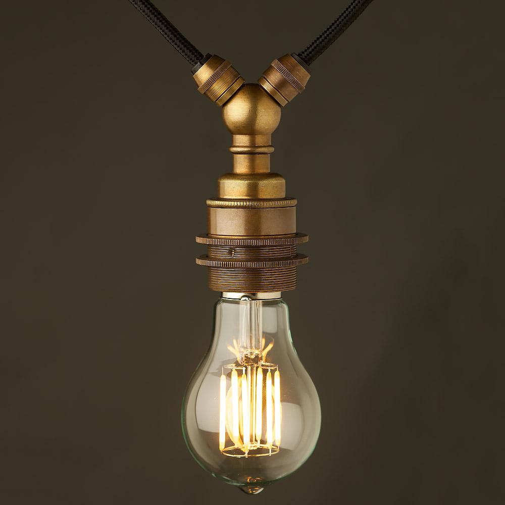 Restoration Hardware Festoon Lighting: Antiqued Brass E27 Festoon Lampholder