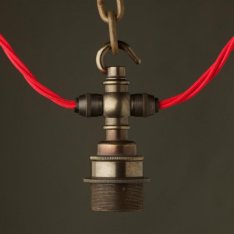 Bronze hook E27 festoon lampholder