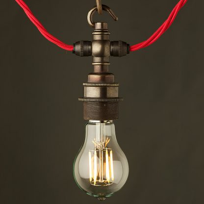 Bronze hook E27 festoon lampholder