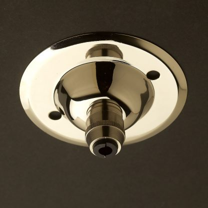Nickel Cord Grip ceiling rose 75mm