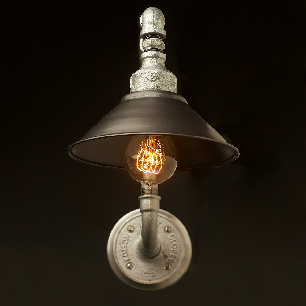 Lighting Lamp: Plumbing Pipe Wall Shade Lamp