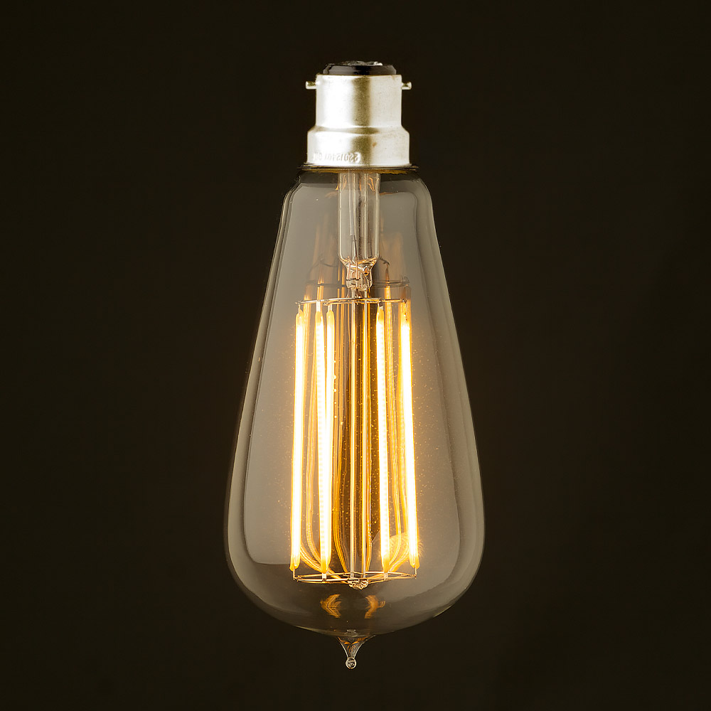 6 watt dimmable lantern filament led b22 clear edison for Vintage lampen
