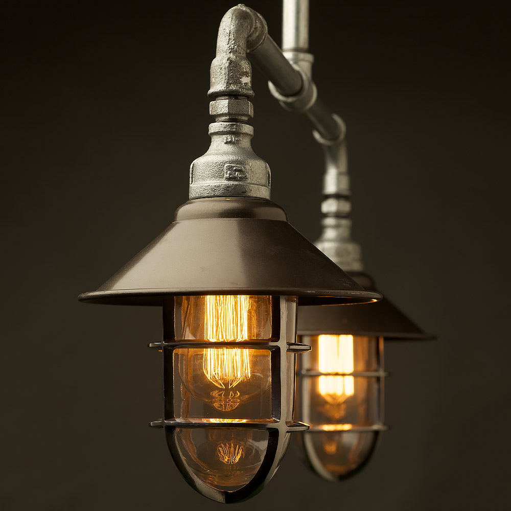 Best Rated Shop Lights: Outdoor Galvanised Plumbing Pipe Short Table Light