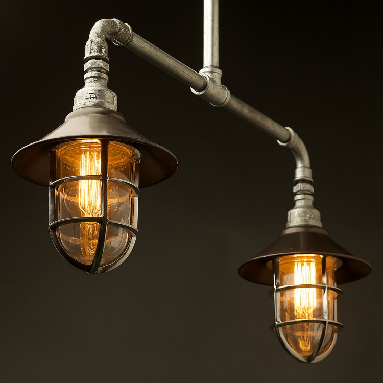 Best Rated Shop Lights: Outdoor Galvanised Plumbing Pipe Short Table Pendant
