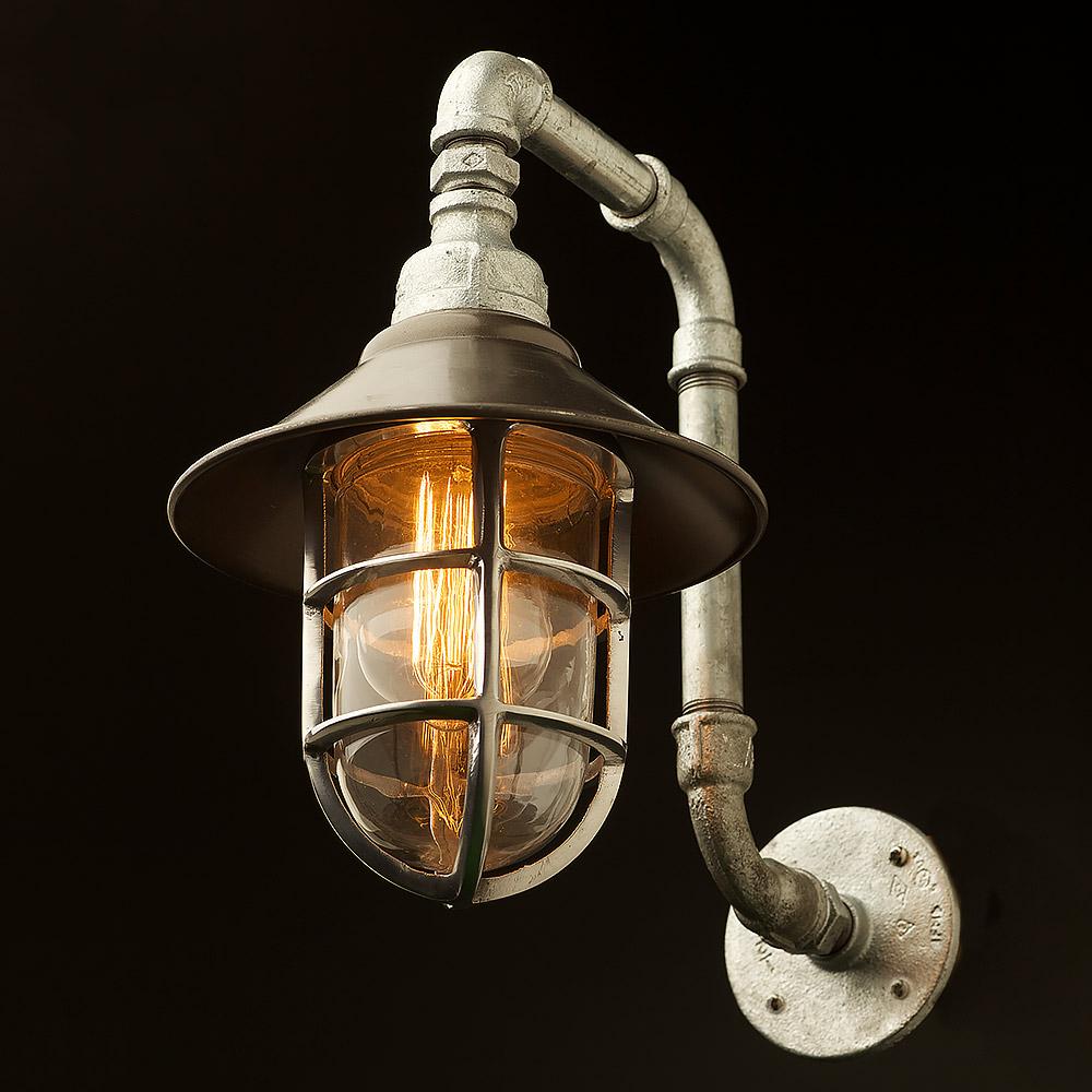 Outdoor Plumbing Pipe Wall Shade Lamp