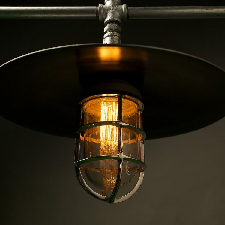 Outdoor Galvanised Plumbing Pipe Conservatory Light