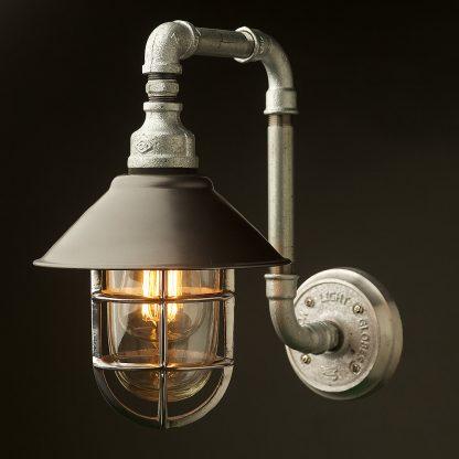 Outdoor Plumbing Pipe Wall Shade Lamp shade detail