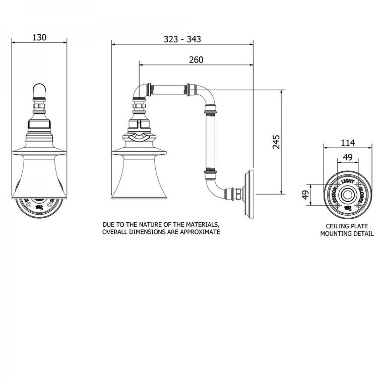 Plumbing Pipe Insulator Wall Light
