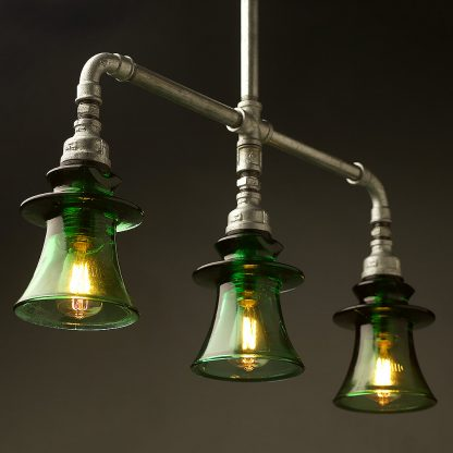 Plumbing Pipe Green Russian Insulator table light
