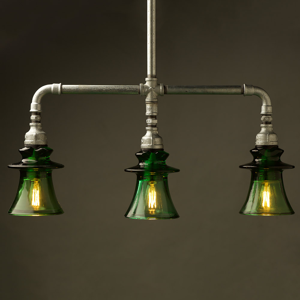 pipe green russian insulator table light