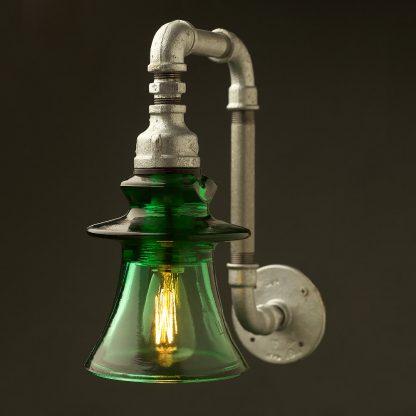 Russian Green fluted Insulator pipe wall light