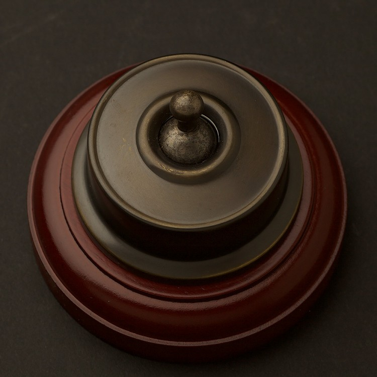 Federation Antique Brass single light switch