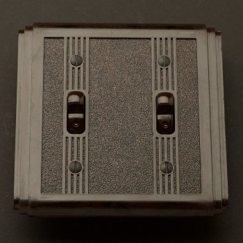Bakelite Art Deco double switch