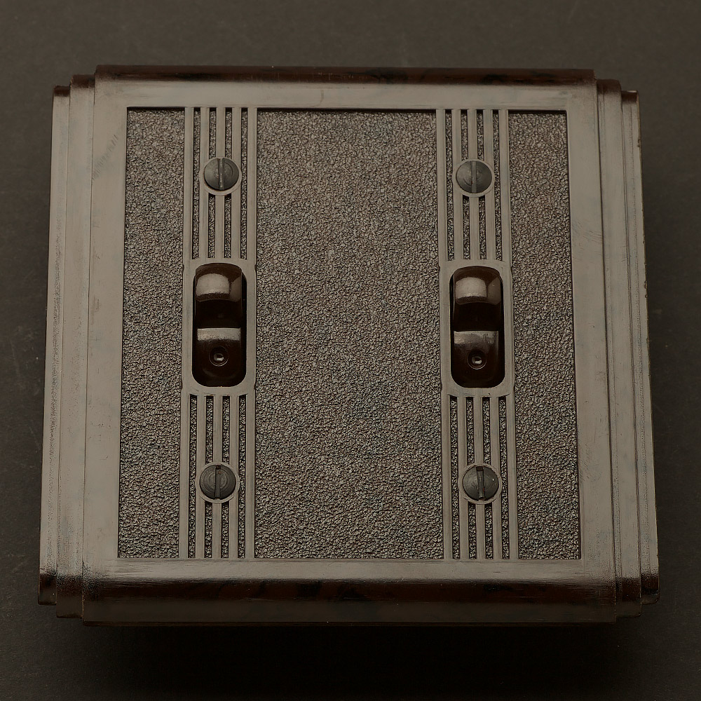 Bakelite Art Deco double switch