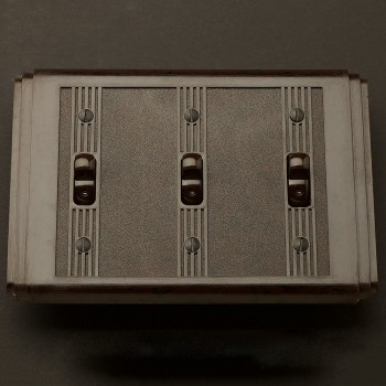 Bakelite Art Deco triple switch