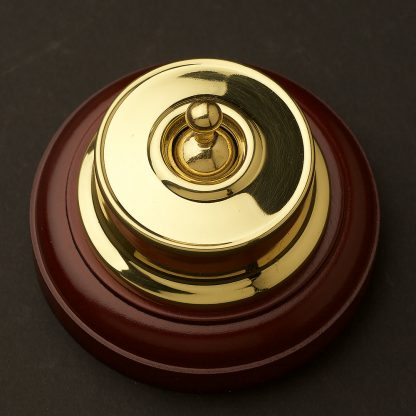 Federation Brass single light switch