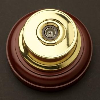 Brass-single-Coax-plug-on-a-block