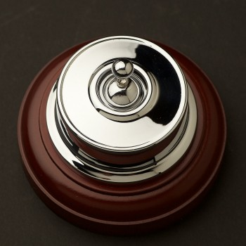 Chrome-plate-Federation-toggle-switch-timber-base