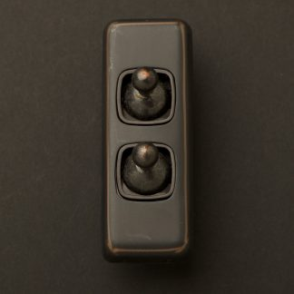 Traditional Antique Copper double rocker switch