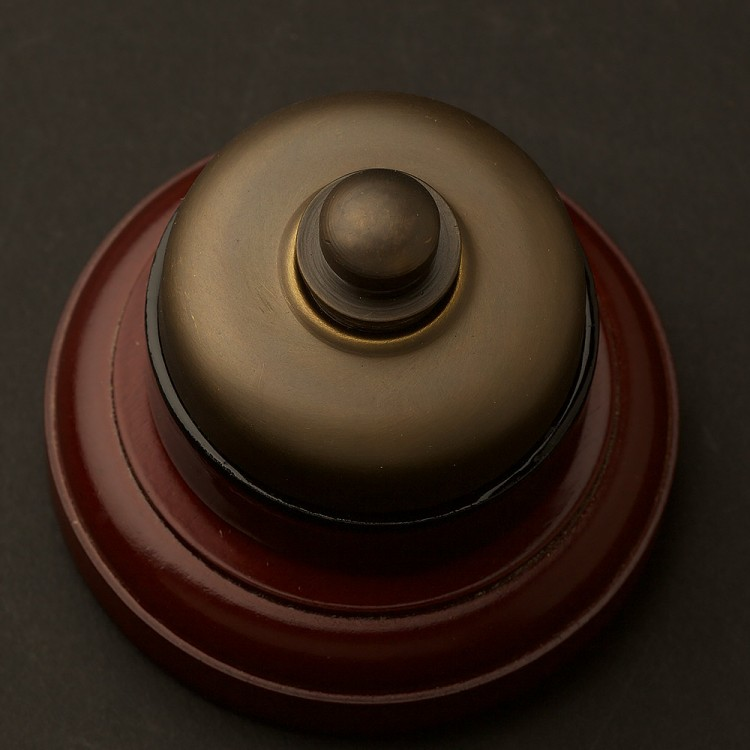 Traditional Antique brass and porcelain Dimmer