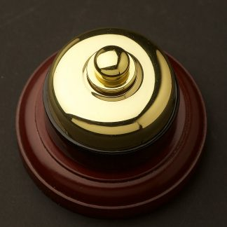 Traditional Brass and porcelain Dimmer on optional timber block