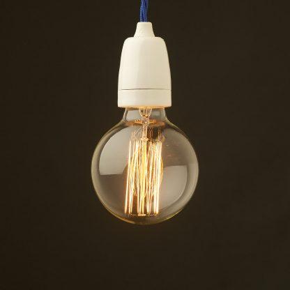 Edison style light bulb E27 white fine porcelain pendant
