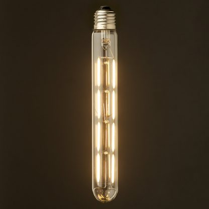 6 Watt Dimmable Filament LED E27 Clear Medium Tube