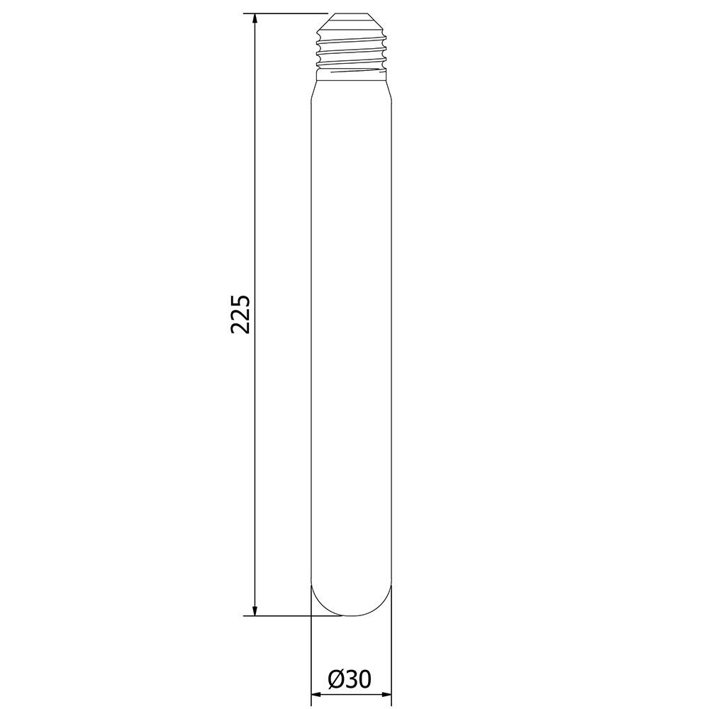 6 watt dimmable filament led e27 clear medium tube. Black Bedroom Furniture Sets. Home Design Ideas