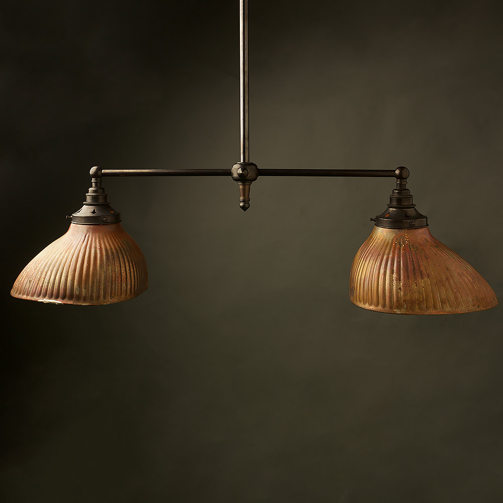 Copper Mirror X-Ray Shade Booth Pendant