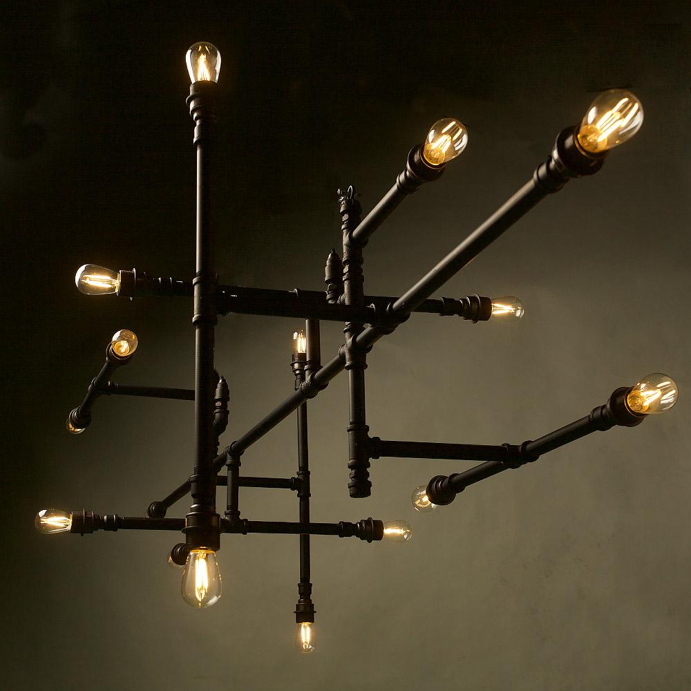 plumbing pipe 16 bulb chandelier