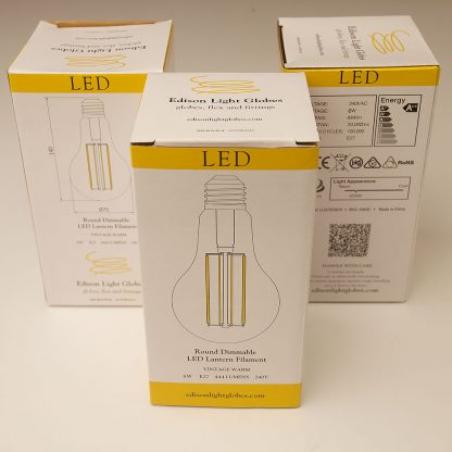 6 Watt Dimmable Filament LED E27 A75