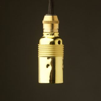Smooth Brass Plate Lampholder Edison E14 fitting