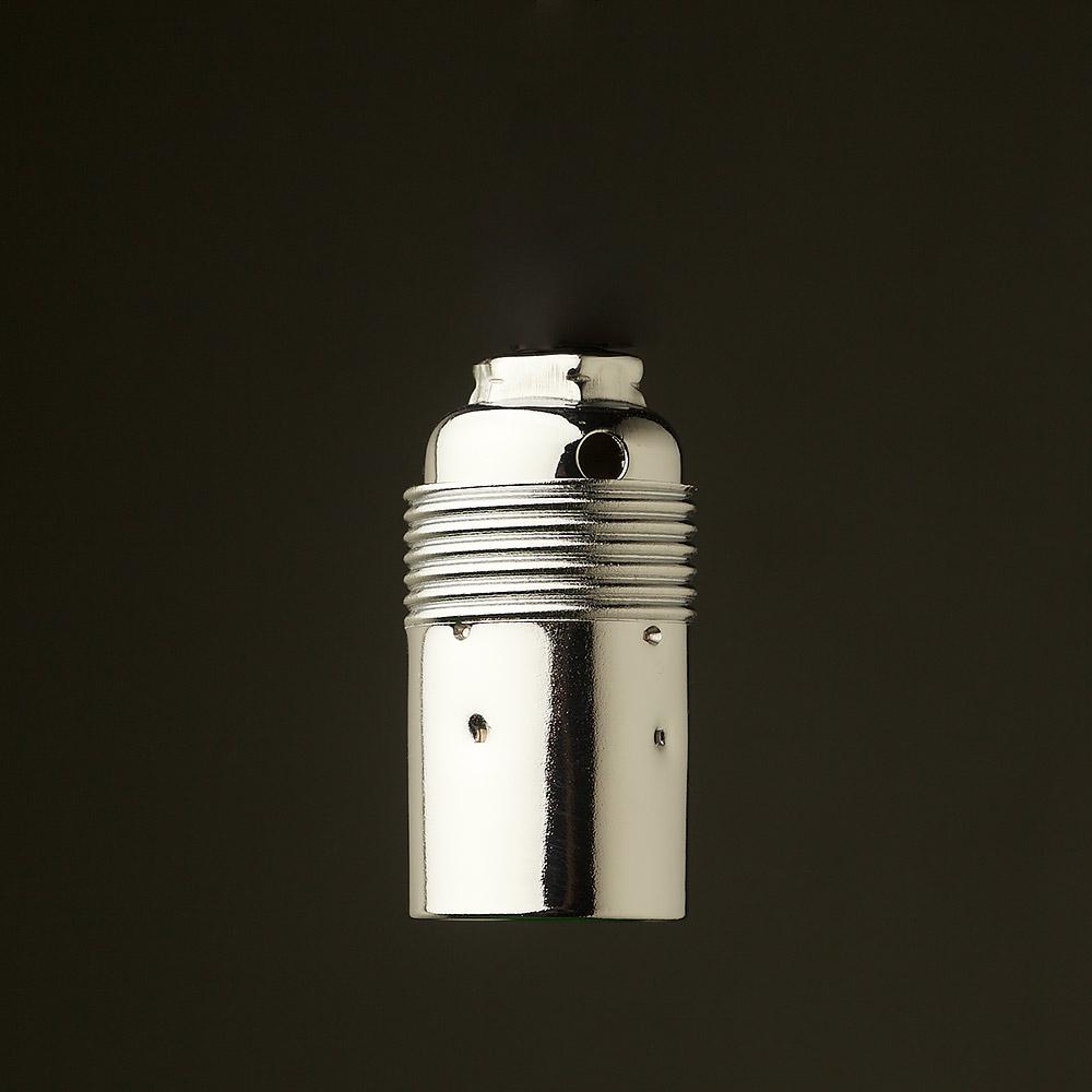Smooth Nickel Plate Lampholder Edison E14 Fitting