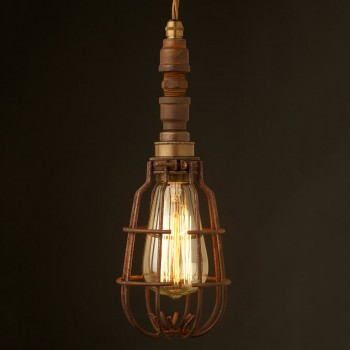 Plumbing Pipe Caged Pendant Light