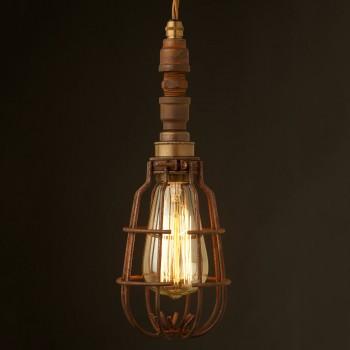 Plumbing-pipe-caged-pendant-light-rusty