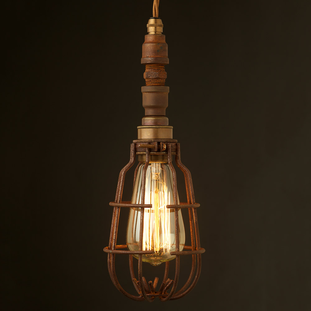 caged lighting. plumbing pipe caged pendant light lighting l