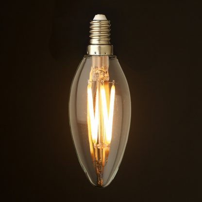 4 Watt Dimmable Filament LED E14 Candle Bulb