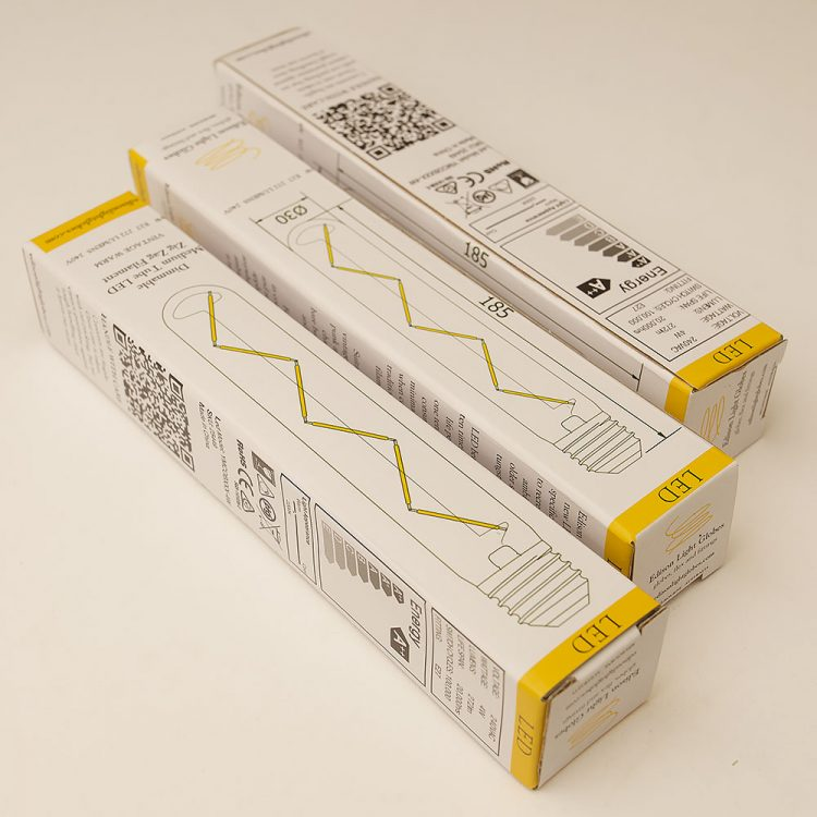 4 Watt Dimmable Zig Zag Filament LED E27 Medium Tube