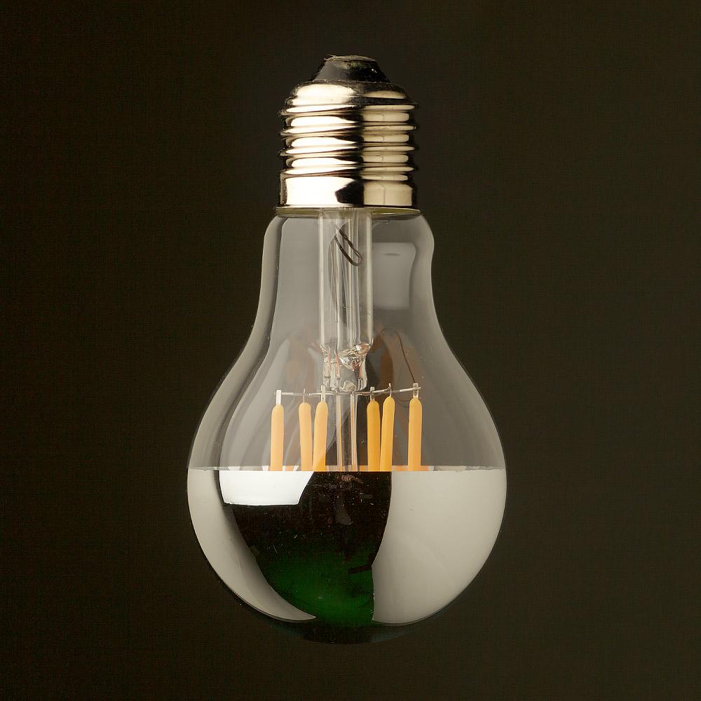 5 watt dimmable crown silver filament led e27 gls. Black Bedroom Furniture Sets. Home Design Ideas